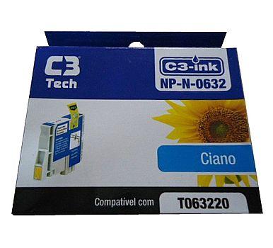 Cartucho compatível Epson T0632 Ciano - C3 Tech NP-N-0632