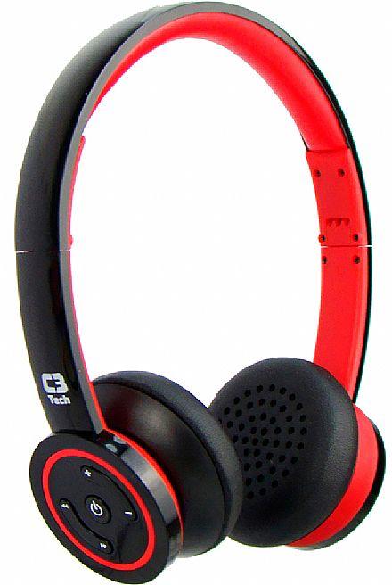 Fone de Ouvido Bluetooth C3 Tech H-W955B RD - Vermelho e Preto