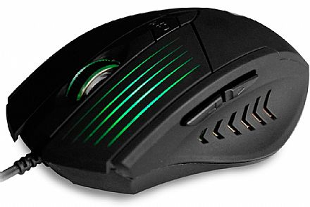 Mouse Gamer C3 Tech - 2400dpi - 6 botões - com LED - MG-10 BK