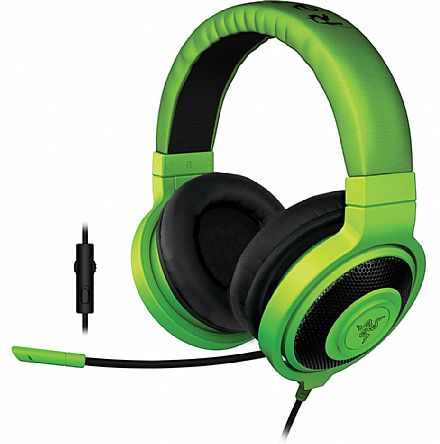 Headset Razer Kraken Pro - com controle de volume - Conector 3.5mm - Verde - RZ04-01380200-R3U