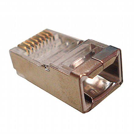 Plug Conector RJ45 Macho Cat 6 8 vias - Blindado - WT-6066-SOLID