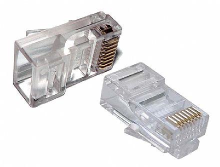 Plug Conector RJ45 Macho Cat 5e 8 vias - Crimpar (100 unidades)