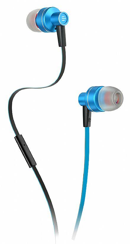 Fone de Ouvido Multilaser Pulse PH157 - com Microfone - Conector 3.5mm - Azul e Preto
