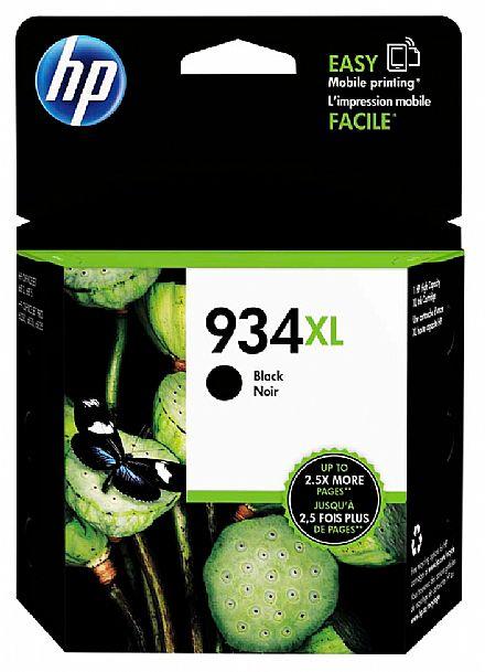 Cartucho HP 934XL Preto - C2P23AL - Para HP Officejet Pro 6830 / HP Officejet Pro 6230