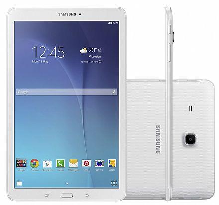 """Tablet Samsung Galaxy Tab E T561M 3G - Tela 9.6"""", Android, Wi-Fi, 8GB, Quad-Core - SM-T561M- Branco"""
