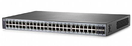 Switch 48 portas HPE Aruba 1820-48G - Gerenciável - 48 portas Gigabit + 4 portas SFP - J9981A