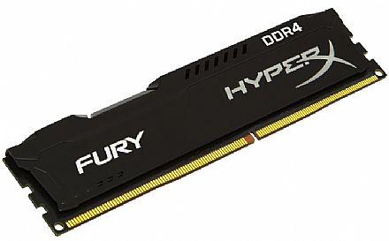 Memória 4GB DDR4 2133MHz Kingston HyperX Fury - Preta - HX421C14FB/4