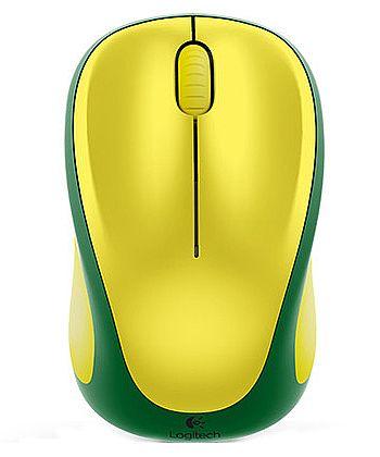 Mouse sem Fio Logitech M317 - Verde e Amarelo - 910-004022