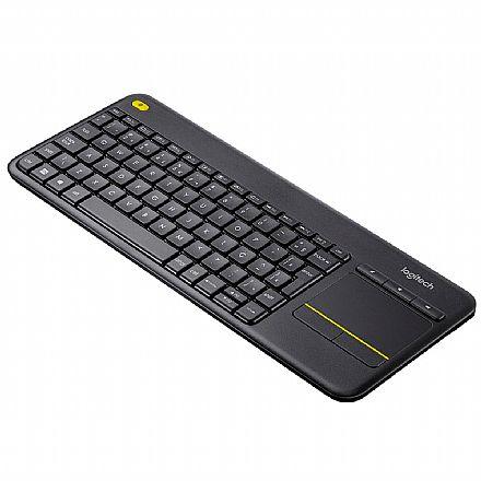 Teclado sem Fio Logitech Touch K400 Plus - USB - Touchpad Multitoque - ABNT2 - Ideal para Smart TV - 920-007125