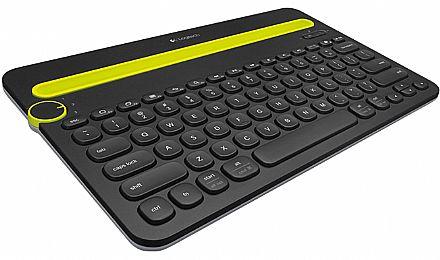 Teclado sem Fio Logitech K480 - Bluetooth - para PC, Tablet e Smartphone - 920-006348