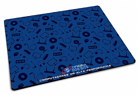 Mouse Pad Bits - 220 x 175 x 2mm - BitsLand - Azul