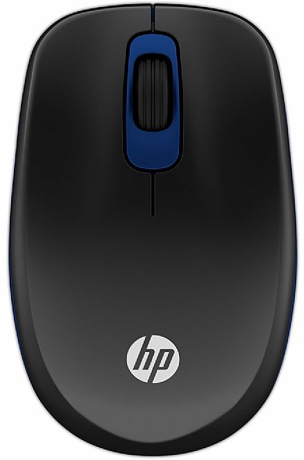 Mouse sem Fio HP Z3600 - Preto e Azul - E5C14AA