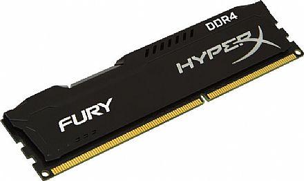 Memória 8GB DDR4 2400MHz Kingston HyperX Fury - 1.2V - CL15 - Preto - HX424C15FB2/8