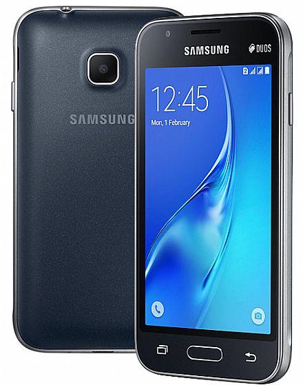 "Smartphone Samsung Galaxy J1 Mini - Tela 4"", Quad Core, 8GB - Preto - SM-J105B/DL"