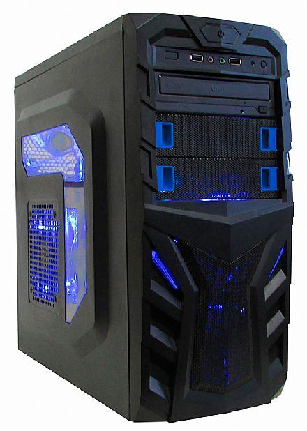 Gabinete K-Mex CG-A8T3 - USB e Audio Frontal - Janela Lateral em Acrílico