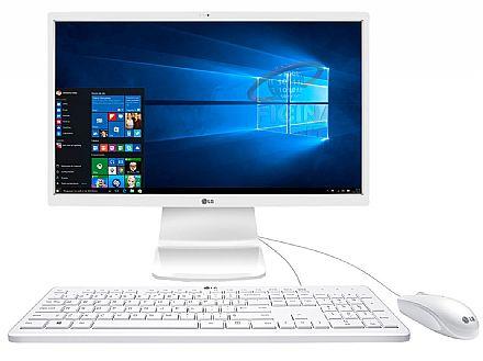 "Computador All in One LG 24V360 - Tela 24"" LED, Intel Pentium Quad Core, 4GB, HD 500GB, Windows 10"