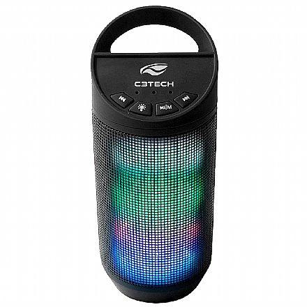 Caixa de Som Bluetooth C3 Tech Beat SP-B50BK - 8W - com LED - Preta