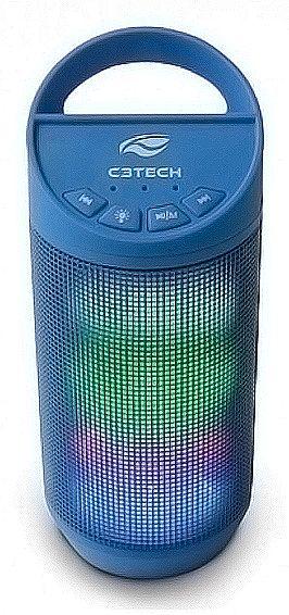 Caixa de Som Bluetooth C3 Tech Beat SP-B50BL - 8W - com LED - Azul