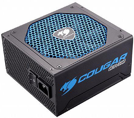 Fonte 600W Cougar CMD - Cougar UIX - Sensor TSR - Eficiência 80% - CGR BD-600