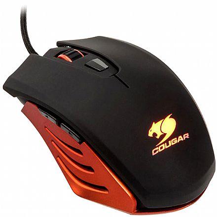 Mouse Gamer Cougar M200 Orange - 2000dpi - 6 botões programáveis - 200M-O