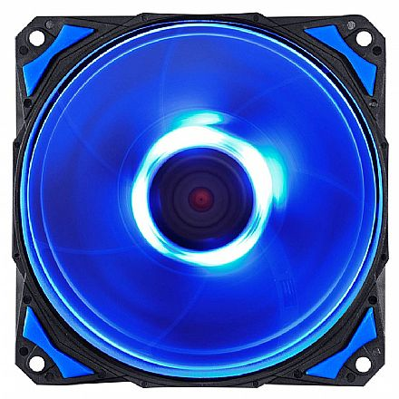 Cooler 120mm PCYes Fury F4 - 1700 RPM - LED Azul - F4120LDAZ