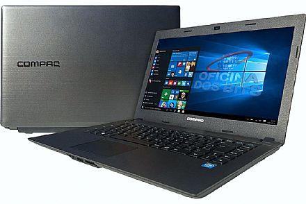 "Notebook HP Compaq Presario CQ23 - Tela 14"" HD, Intel Dual Core N2820, 4GB, HD 500GB, Windows 10"