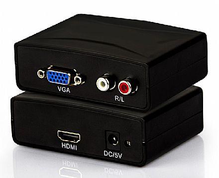 Conversor VGA para HDMI com Áudio Entrada RCA - Empire JC1188L