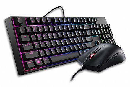 Kit Teclado e Mouse Cooler Master Masterkeys Lite L Combo - LED RGB - SGB-3040-KKMF1