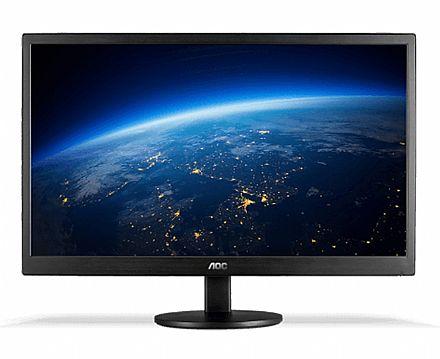 """Monitor 23.6"""" AOC M2470SWD2 - Full HD - 5ms - Suporte VESA - DVI/VGA"""