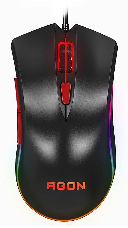 Mouse Gamer AOC Agon - 4000dpi - 6 Botões Porgramáveis - LED RGB - Avago-3050 gaming sensor - AGM3050/D