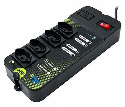 Filtro de Linha Inteligente SmartI9 i9Plug - Ligue e desligue aparelhos pela Internet ou via Wi-Fi - com 4 Tomadas - Bivolt