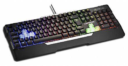Teclado USB Gamer Multilaser Warrior TC208 - Semi Mecânico - Iluminação por LED