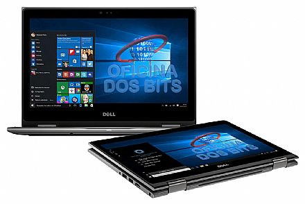 "Notebook Dell Inspiron i13-5378-A15C 2 em 1 - Tela 13.3"" Touch Full HD, Intel i3 7100U, 4GB, HD 1TB, Windows 10 - Outlet"