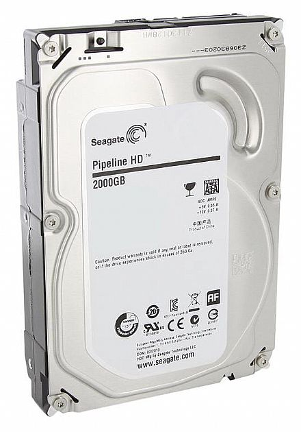 HD 2 TB SATA 3 - 5900RPM - 64MB Cache - Seagate Pipeline HD Video - ST2000VM003 - Recertificado