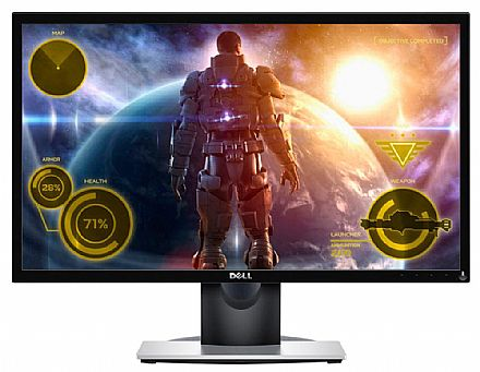 "Monitor 23.6"" Dell SE2417HG Gamer - Full HD - Resposta em 2ms - 60Hz - HDMI/VGA"