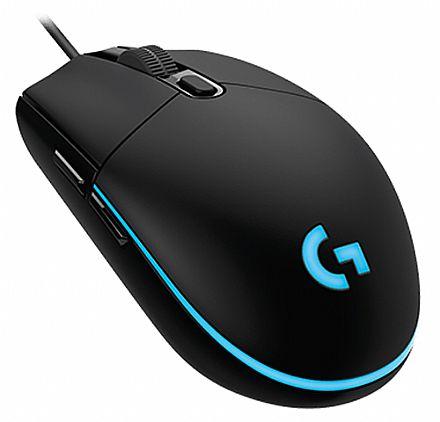 Mouse Gamer Logitech G203 Prodigy - 8000dpi - 6 Botões - 1ms - Iluminação RGB - 910-004843