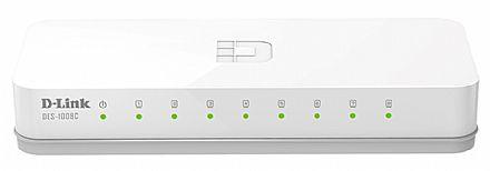Switch 8 portas D-Link DES-1008C - 100Mbps