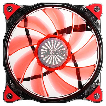 Cooler 120x120mm Akasa Vegas com LED Vermelho - AKFN091RD