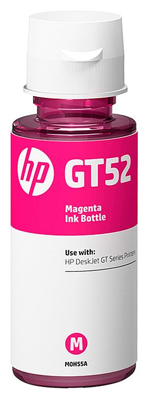 Refil de Tinta HP GT52 M0H55-AL - Magenta - Para Multifuncionais Tanque de Tinta HP Deskjet GT 5810, GT 5820, GT 5822