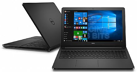 "Notebook Dell Inspiron i15-5566-R50P - Tela 15.6"", Intel i7 7500U, 8GB, HD 1TB, Intel HD Graphics 620, Windows 10 - Preto - Garantia 1 ano - Seminovo"