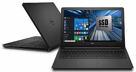 "Notebook Dell Inspiron i15-5566-A50P - Tela 15.6"", Intel i7 7500U, 8GB, SSD 240GB, Intel HD Graphics 620, Windows 10"