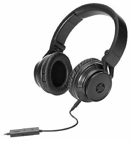 Fone de Ouvido HP H3100 - com Controle de Volume e Microfone - Conector 3.5mm - Preto - T3U77AA