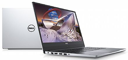 "Notebook Dell Inspiron i14-7472-R20S - Tela 14"" Infinita Full HD, Intel i7 8550U, 16GB, SSD 480 GB, GeForce MX150 4GB, Windows 10 - Prata - Garantia 1 ano - Seminovo"
