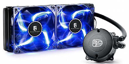 Water Cooler DeepCool Maelstrom 240T (AMD / Intel) - LED Azul - DP-GS-H12RL-MS240T