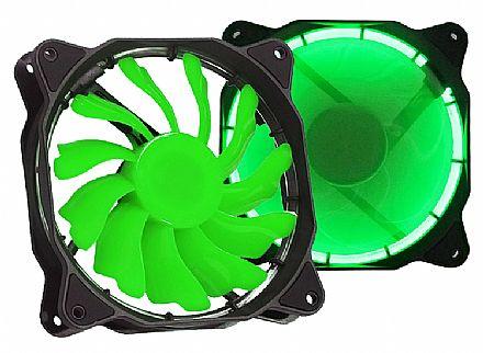 Cooler 120x120mm DEX DX-12F - LED Verde