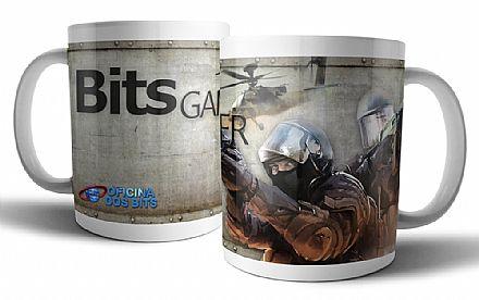 Caneca de porcelana - Bits Gamer CS GO