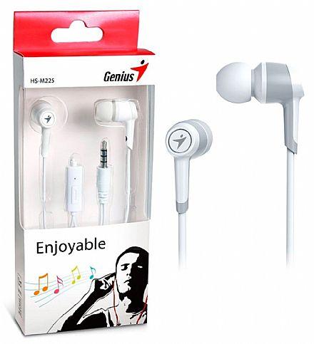 Fone de Ouvido Intra-Auricular Genius HS-M225 - com Microfone - Conector 3.5mm - Branco - 31710193101