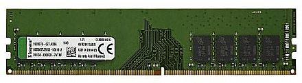 Memória 4GB DDR4 2400MHz Kingston ECC para Servidor - (UDIMM) Unbuffered - 1.2V - KVR24E17S8/4