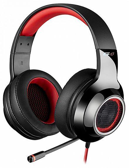 Headset Gamer Edifier G4 - 7.1 Canais - com Vibração e LED - Conector USB - Microfone retrátil - Vermelho