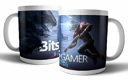 Caneca de porcelana - Bits Gamer Prey